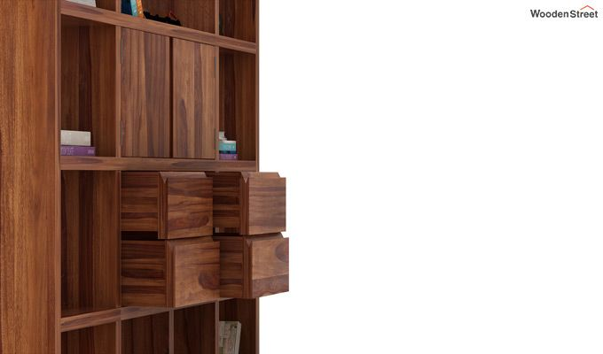 Orsini Bookshelf (Teak Finish)-4
