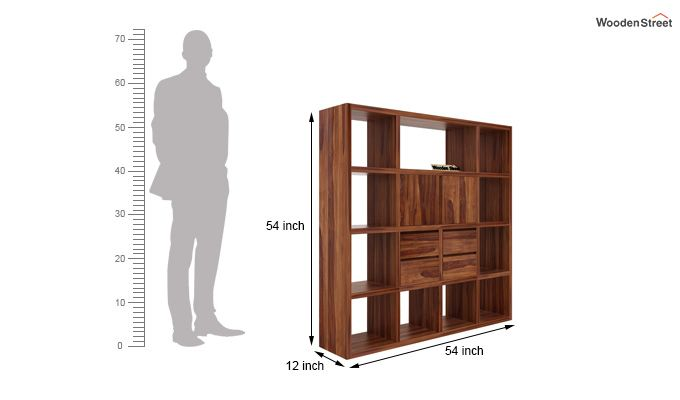 Orsini Bookshelf (Teak Finish)-5