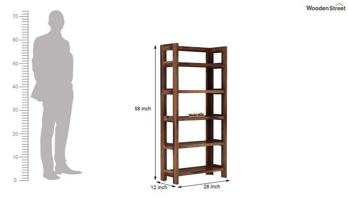 Osias Bookshelf (Teak Finish)-5