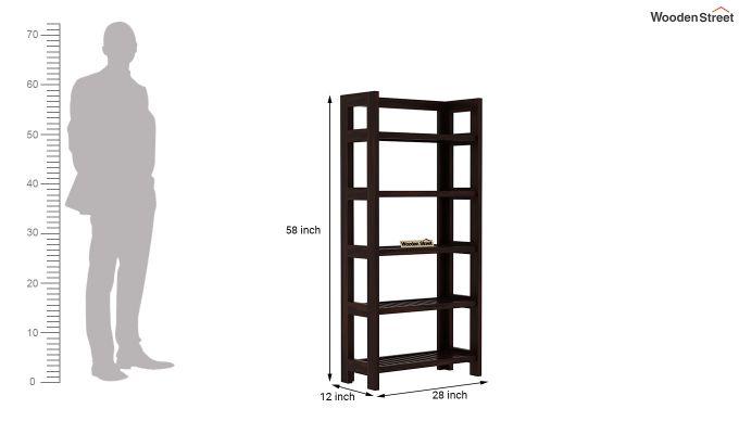 Osias Bookshelf (Walnut Finish)-5
