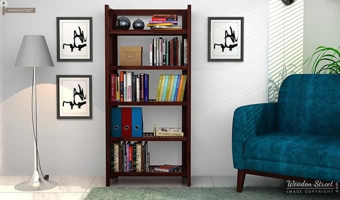 Osias Bookshelf (Mahogany Finish)-1