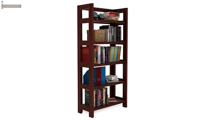 Osias Bookshelf (Mahogany Finish)-2
