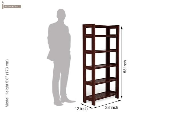Osias Bookshelf (Mahogany Finish)-6