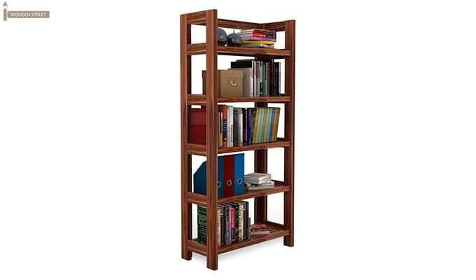 Osias Bookshelf (Teak Finish)-2