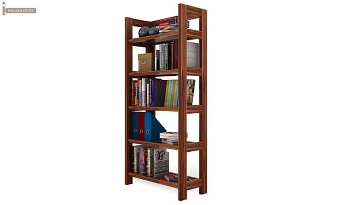 Osias Bookshelf (Teak Finish)-4