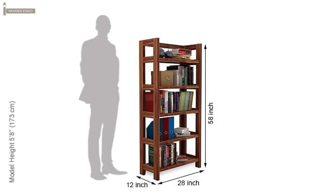 Osias Bookshelf (Teak Finish)-5