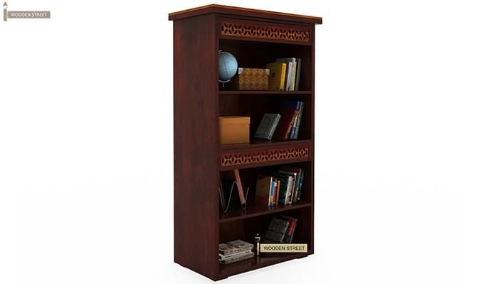 Pacino Book Shelves (Mahogany Finish)-2