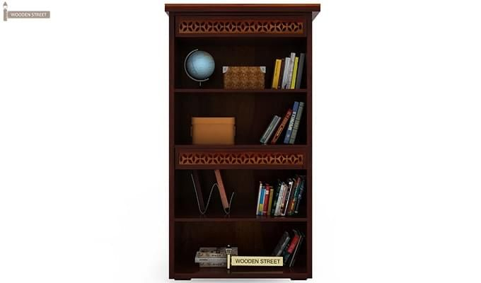 Pacino Book Shelves (Mahogany Finish)-3