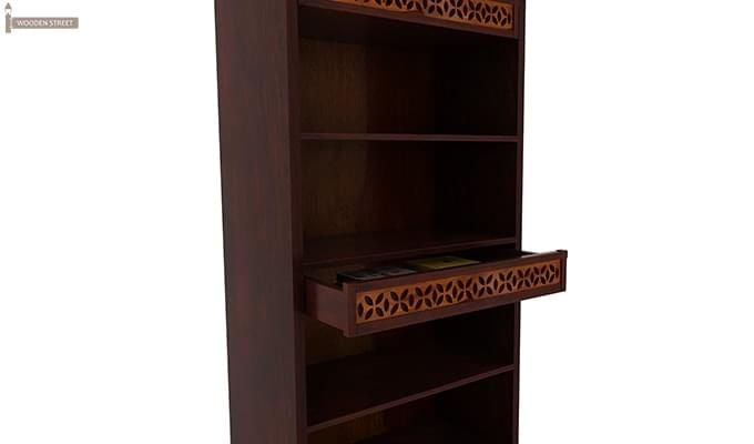 Pacino Book Shelves (Mahogany Finish)-4