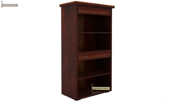 Pacino Book Shelves (Mahogany Finish)-5