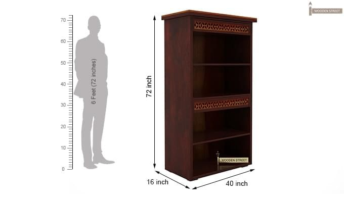 Pacino Book Shelves (Mahogany Finish)-7