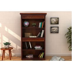 Pacino Book Shelves (Mahogany Finish)