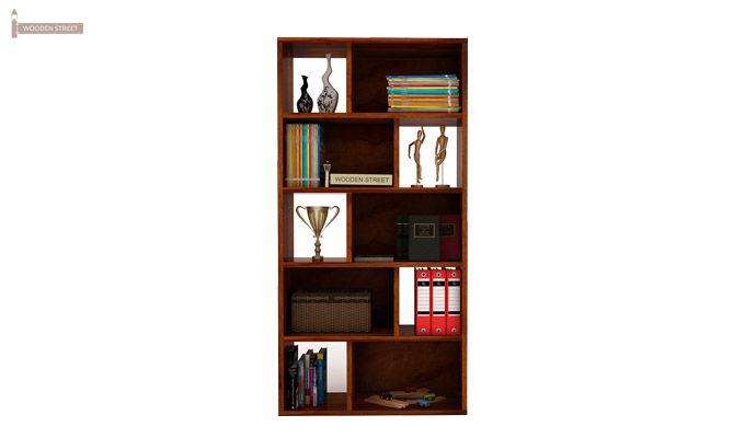 Pamela Book Shelf (Honey Finish)-2