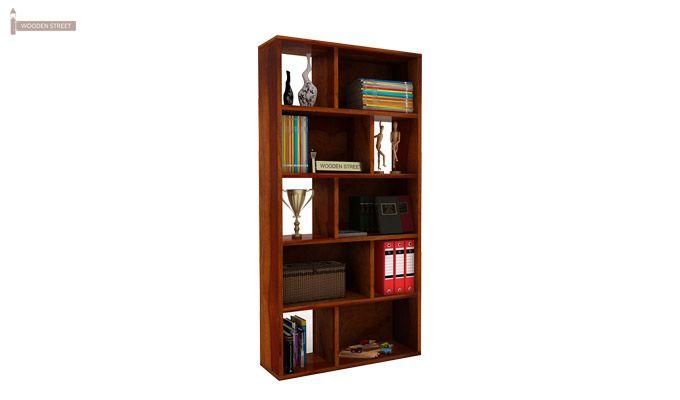 Pamela Book Shelf (Honey Finish)-1