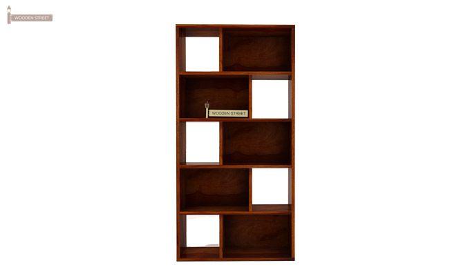 Pamela Book Shelf (Honey Finish)-3