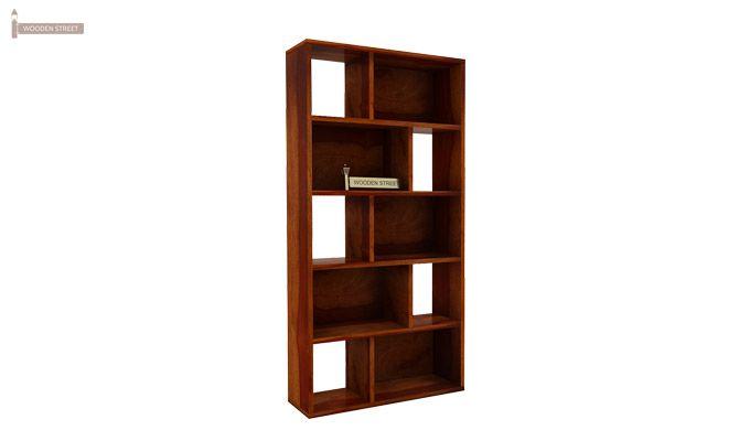 Pamela Book Shelf (Honey Finish)-4