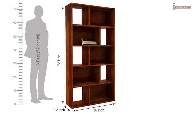 Pamela Book Shelf (Honey Finish)-5