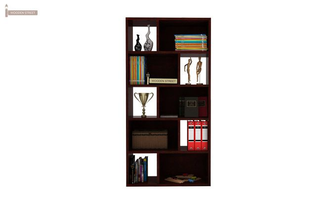 Pamela Book Shelf (Mahogany Finish)-2
