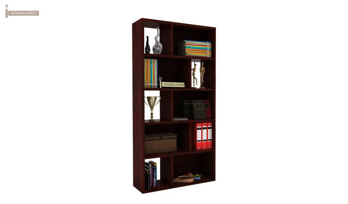 Pamela Book Shelf (Mahogany Finish)-1