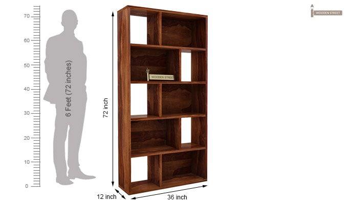 Pamela Book Shelf (Teak Finish)-5
