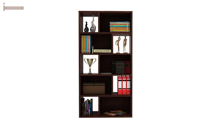 Pamela Book Shelf (Walnut Finish)-2