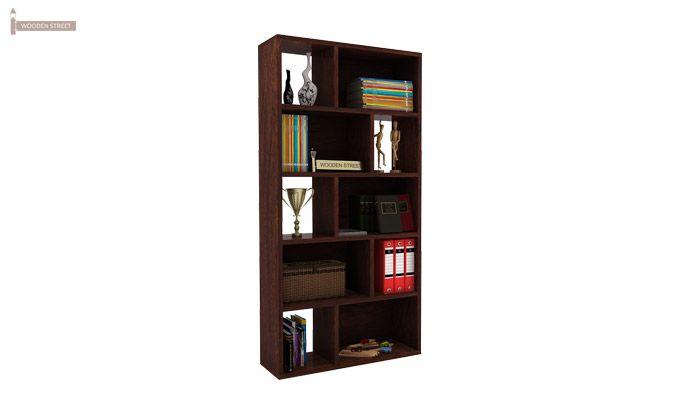 Pamela Book Shelf (Walnut Finish)-3