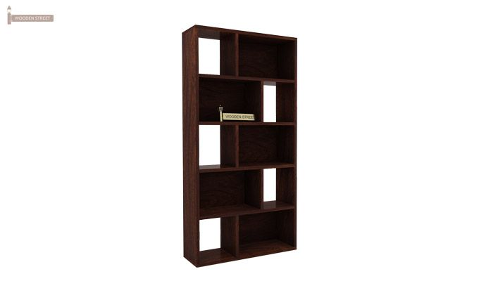 Pamela Book Shelf (Walnut Finish)-5