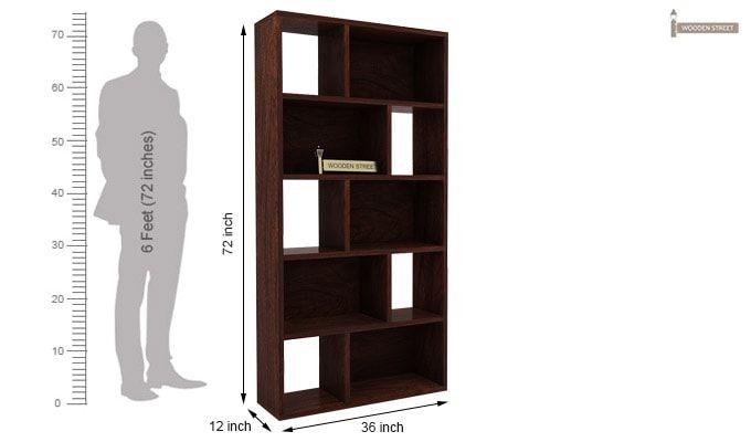 Pamela Book Shelf (Walnut Finish)-6