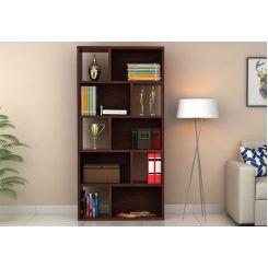 Pamela Book Shelf (Walnut Finish)