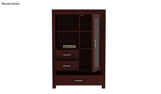 Pietro Book Case (Mahogany Finish)-3