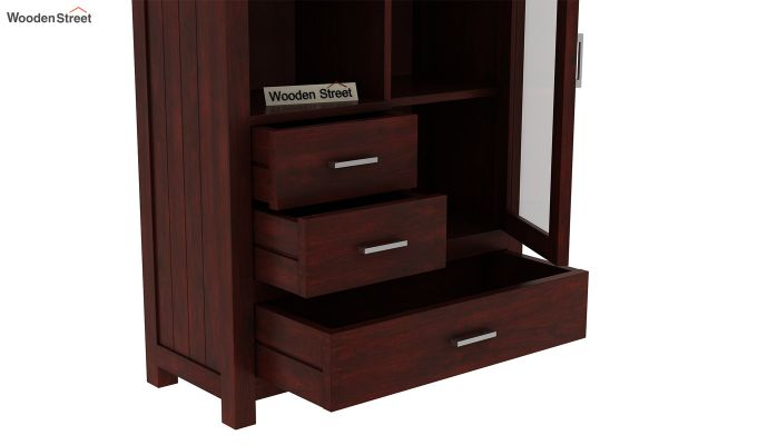 Pietro Book Case (Mahogany Finish)-4