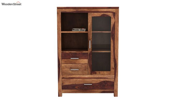 Pietro Book Case (Teak Finish)-3