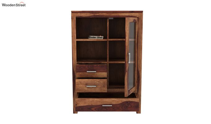 Pietro Book Case (Teak Finish)-5