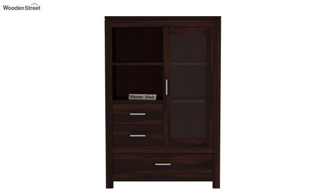 Pietro Book Case (Walnut Finish)-3