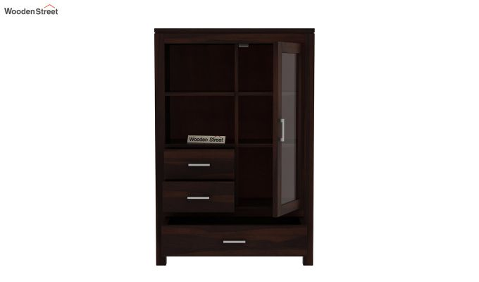 Pietro Book Case (Walnut Finish)-4