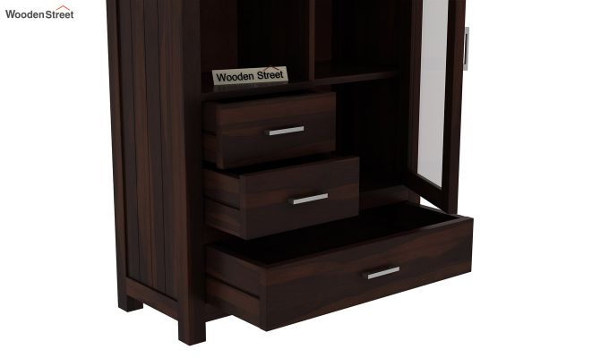 Pietro Book Case (Walnut Finish)-5