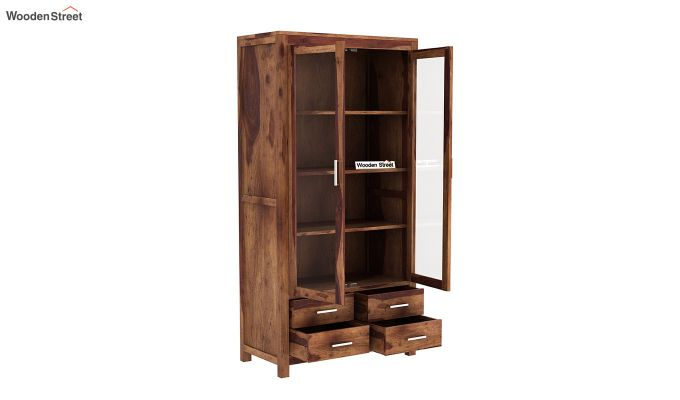 Portus Bookshelf (Teak Finish)-4