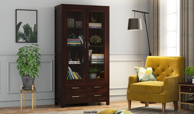 Portus Bookshelf (Walnut Finish)-1