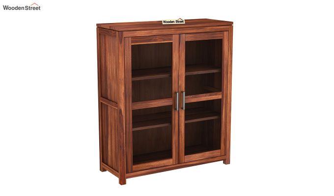 Portus Small Size Bookshelf (Honey Finish)-2
