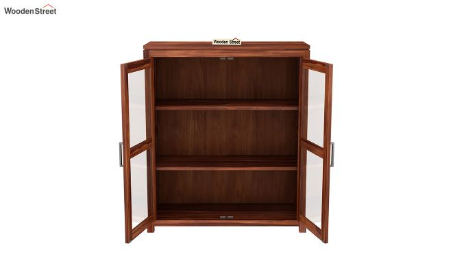 Portus Small Size Bookshelf (Honey Finish)-4