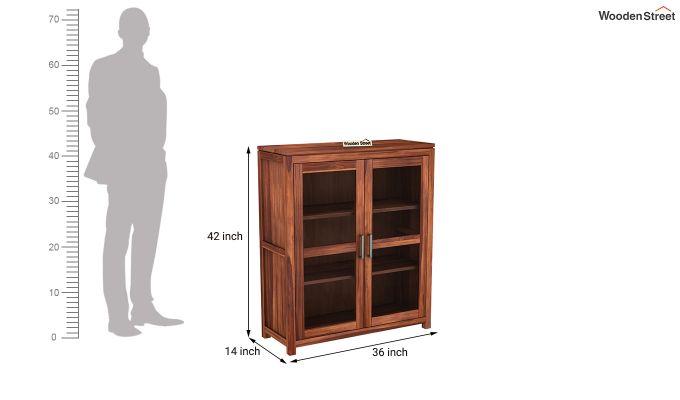 Portus Small Size Bookshelf (Honey Finish)-5