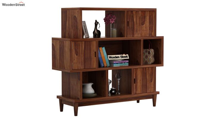 Ritson Bookshelf (Teak Finish)-1