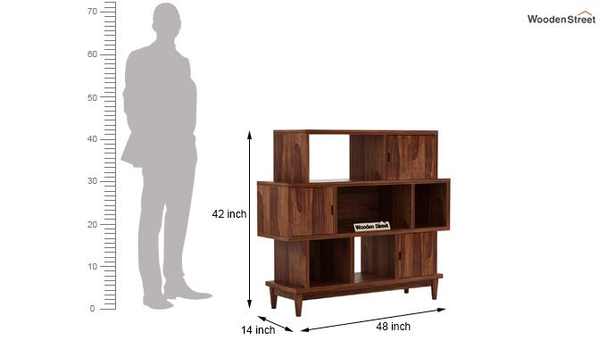 Ritson Bookshelf (Teak Finish)-6