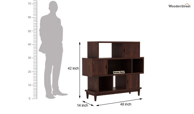 Ritson Bookshelf (Walnut Finish)-7