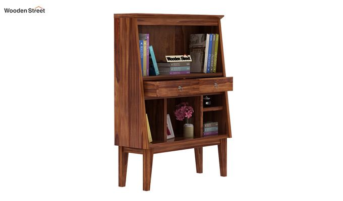 Rovelo Bookshelf (Teak Finish)-1