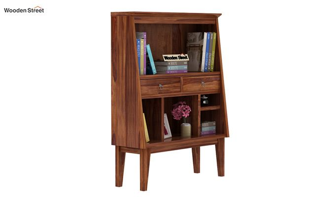 Rovelo Bookshelf (Teak Finish)-2