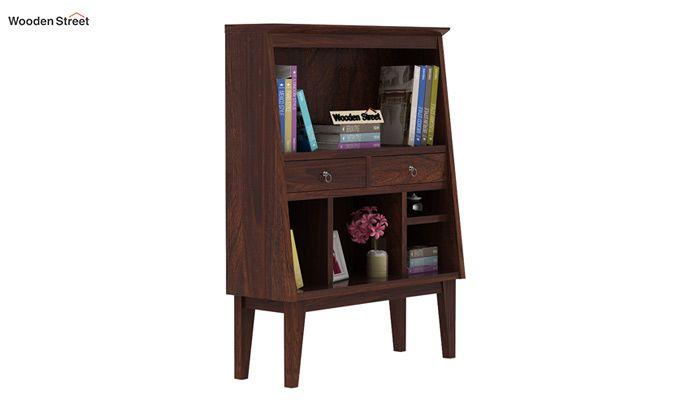 Rovelo Bookshelf (Walnut Finish)-2
