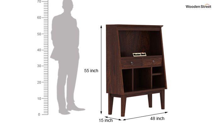 Rovelo Bookshelf (Walnut Finish)-6
