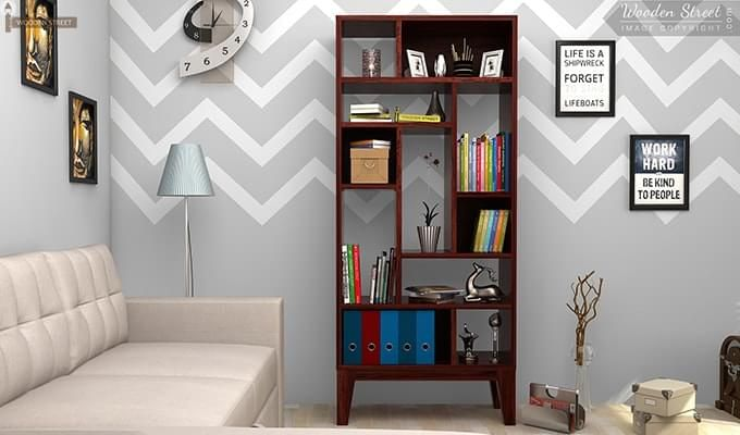 Samuel Book Case (Mahogany Finish)-1