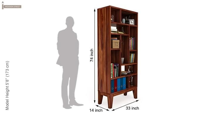 Samuel Book Case (Teak Finish)-5